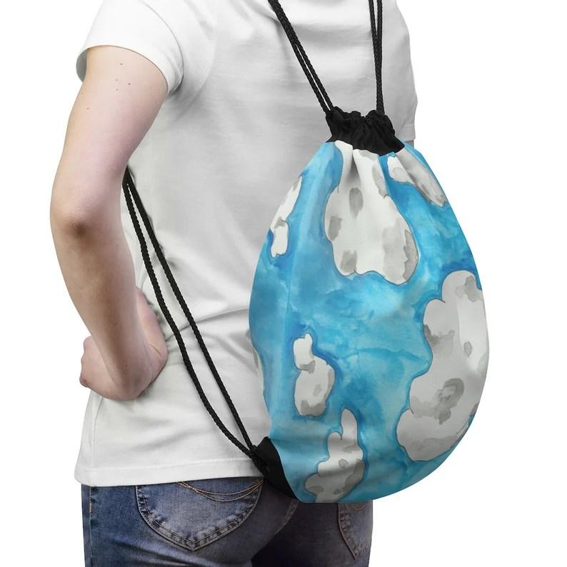 Cool Art Drawstring Bag 1  Retro custom gift aesthetic pop image 0