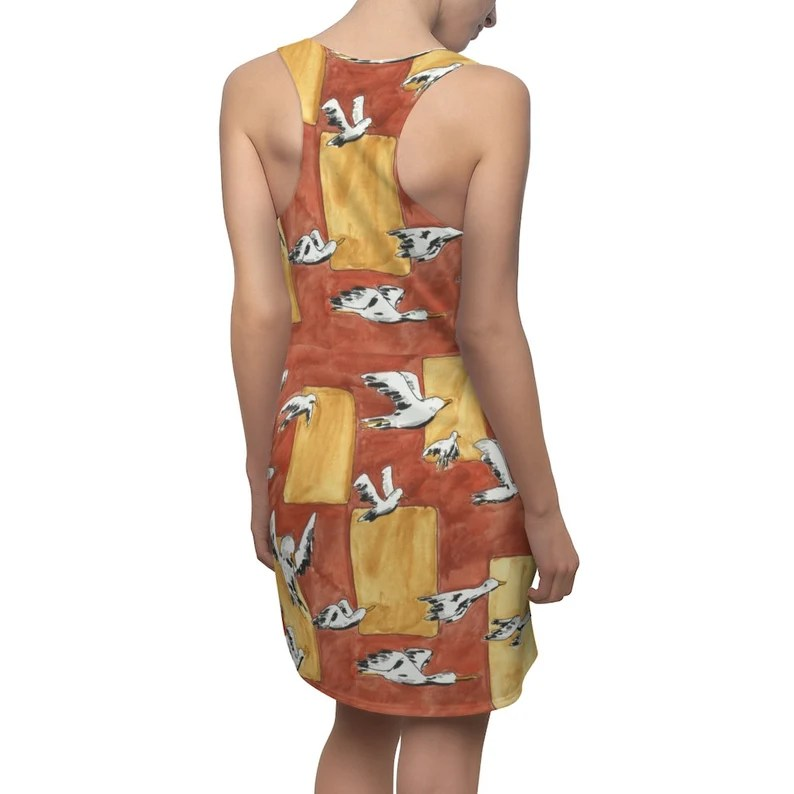 Urban Art Racerback Dress 2  Retro custom gift  dresses image 0