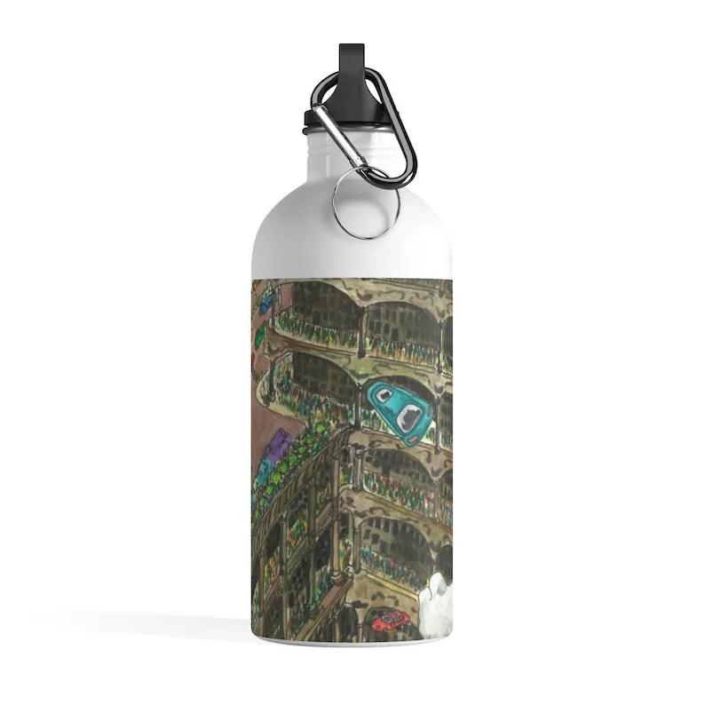 Urban Art Water Bottle 23  Retro custom gift pop art line image 0
