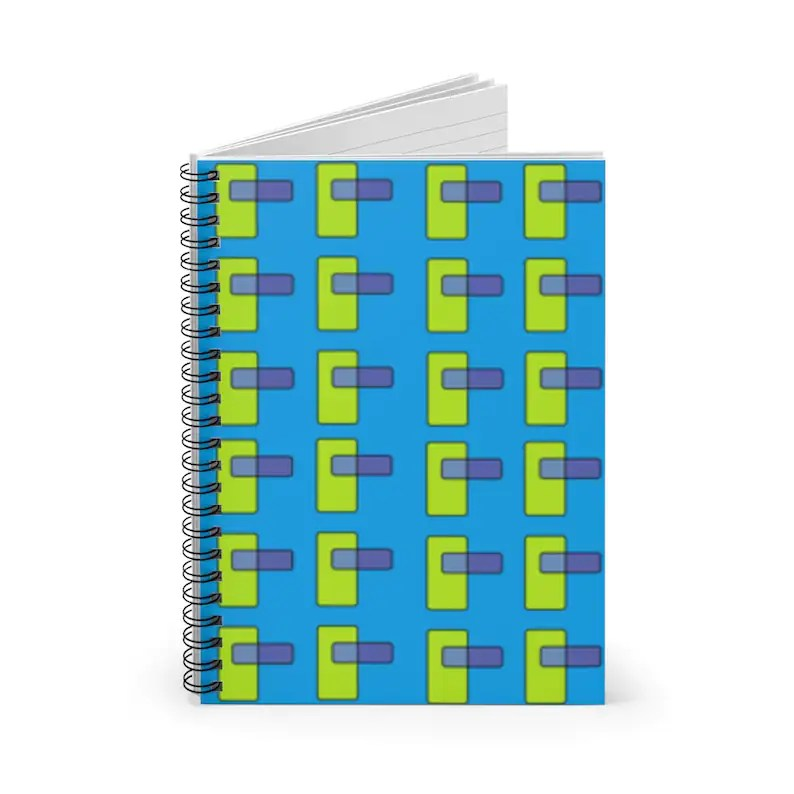 Ruled Line Spiral Notebook With Cool Art Cover 36  Retro image 0