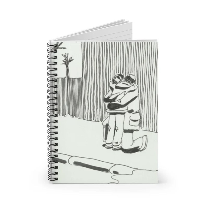 Ruled Line Spiral Notebook With Cool Art Cover 14  Retro image 0