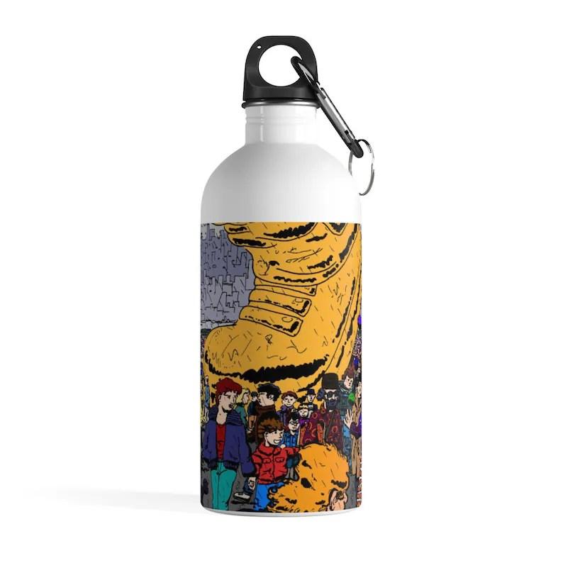 Urban Art Water Bottle 22  Retro custom gift pop art line image 0
