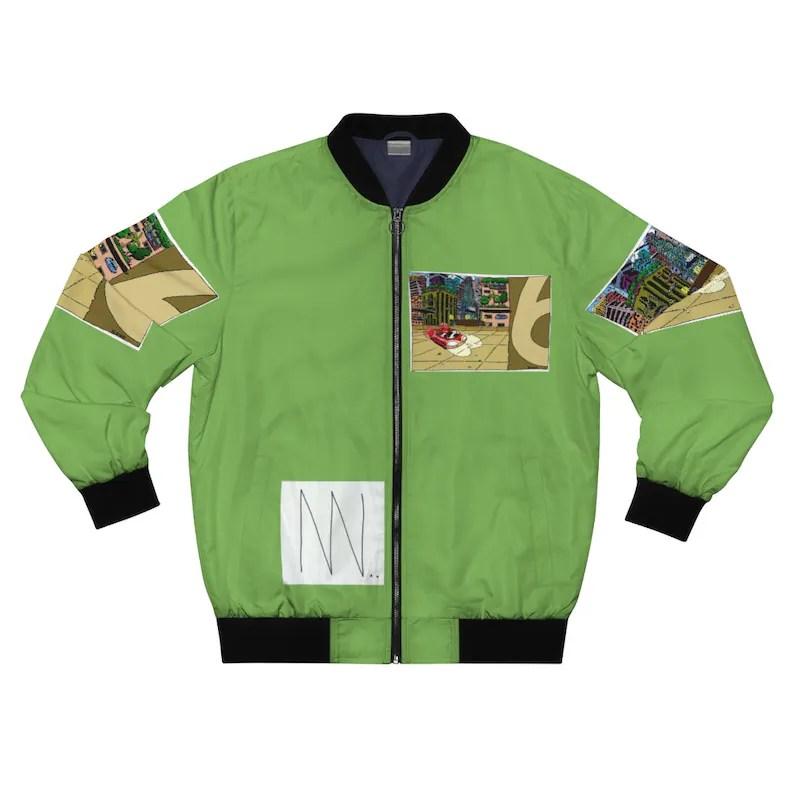 Urban Art Bomber Jacket 15  Retro custom gift aesthetic line image 0