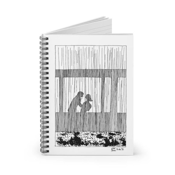 Ruled Line Spiral Notebook With Urban Art Cover 2  Retro image 0