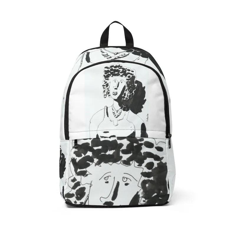 Urban Art Mid-sized Backpack 8  Retro custom gift  backpacks image 0