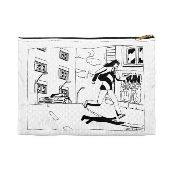 Urban Art Zipper Pouch 2 sizes 1  Retro custom gift image 0