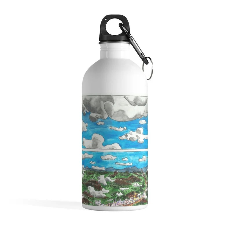 Cool Art Water Bottle 34  Retro custom gift pop art line image 0