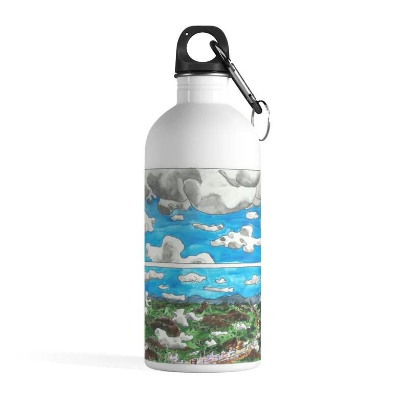 Cool Art Water Bottle 34  Retro custom gift pop art line image 0