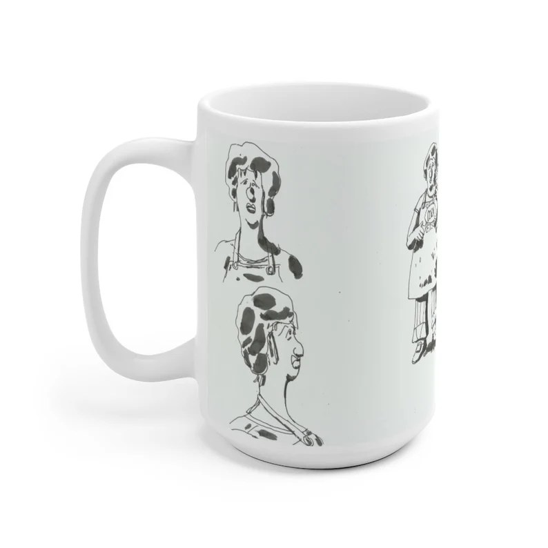 Urban Art Mug 2 sizes 57  Retro custom gift unique mugs image 0