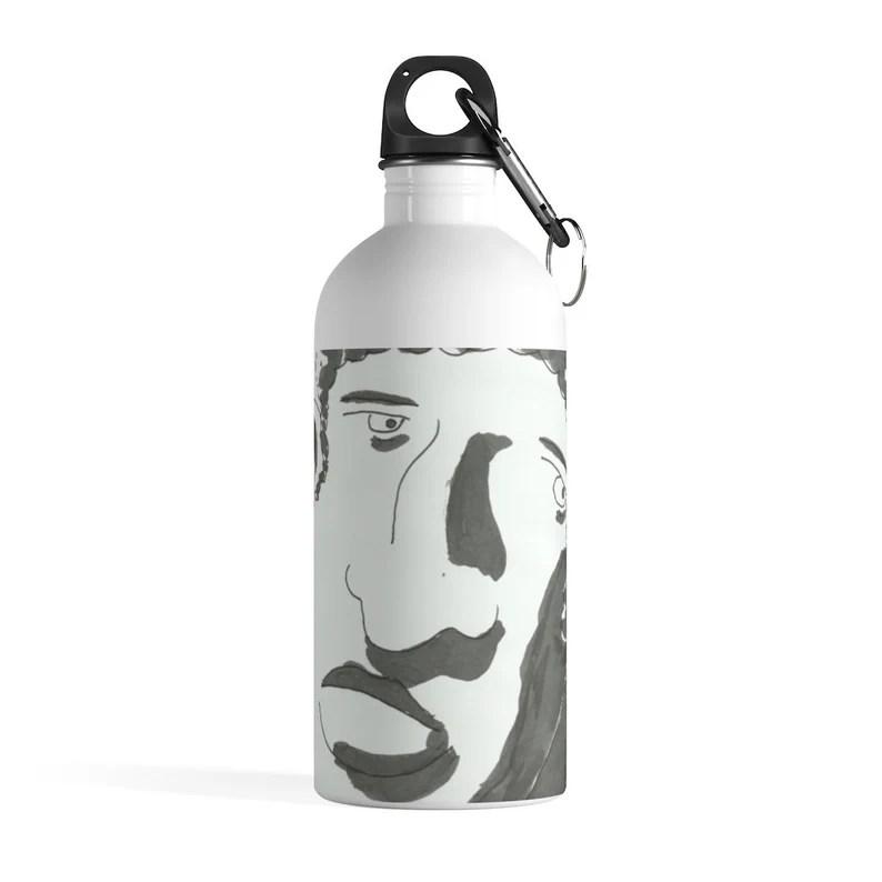 Urban Art Water Bottle 19  Retro custom gift pop art line image 0