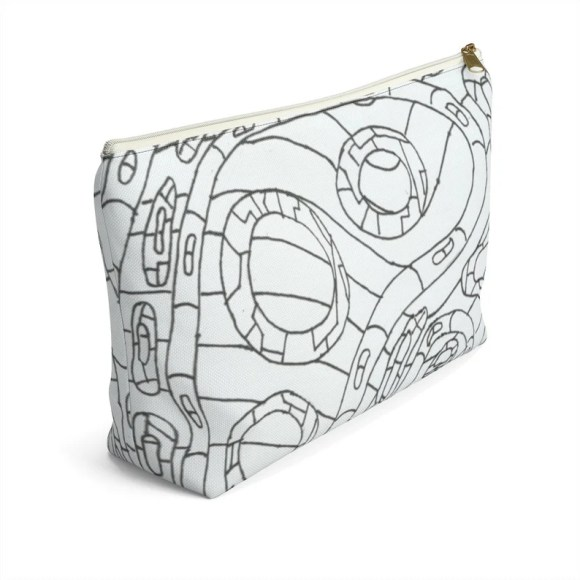 Urban Art Zipper Pouch T-bottom 2 sizes 3  Retro custom image 0