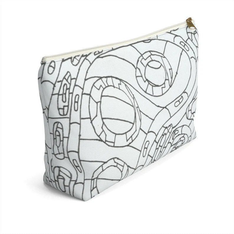 Cool Art Zipper Pouch T-bottom 2 sizes 3  Retro custom image 0