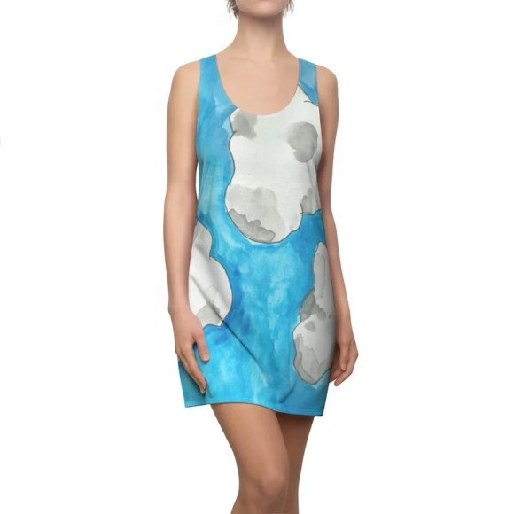 Cool Art Racerback Dress 8  Retro custom gift  dresses image 0