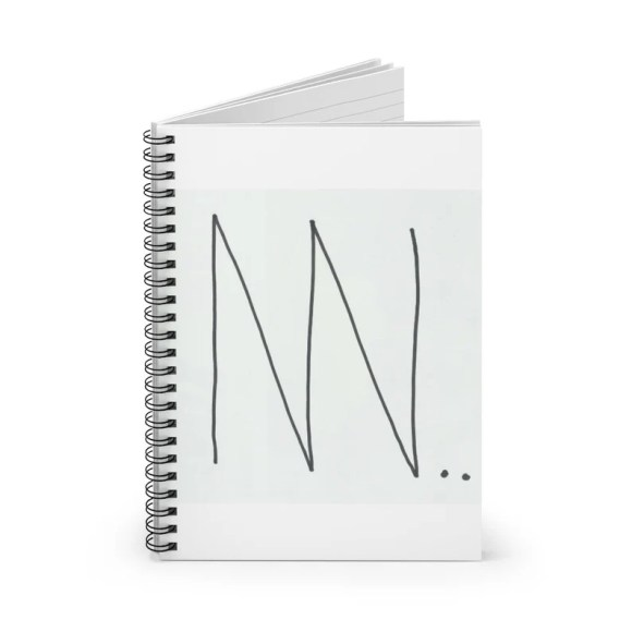 Ruled Line Spiral Notebook With Cool Art Cover 8  Retro image 0