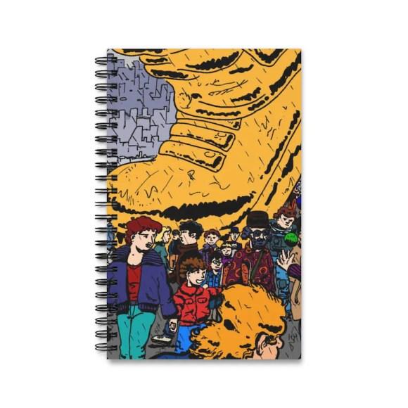 Spiral Journal With Cool Art Cover 14  Retro custom gift imagem 0
