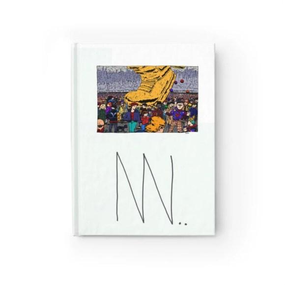 Blank Journal With Urban Art Cover 10  Retro custom gift image 0