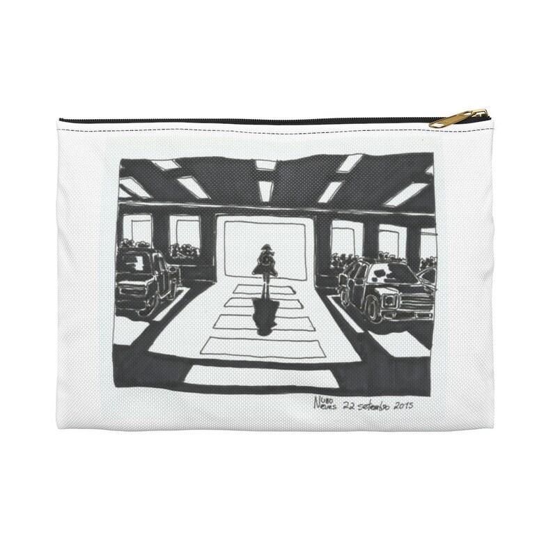 Urban Art Zipper Pouch 2 sizes 3  Retro custom gift image 0