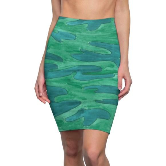 Urban Art Pencil Skirt 10  Retro custom gift  skirts image 0