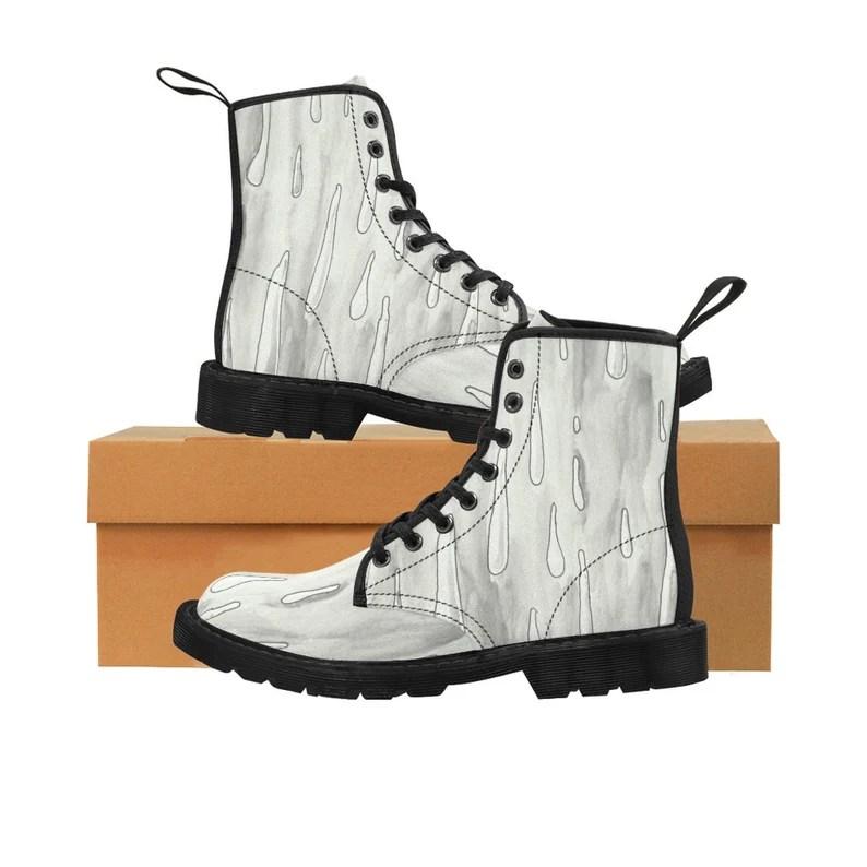 Urban Art Boots 3  Retro custom gift handmade pop art line image 0