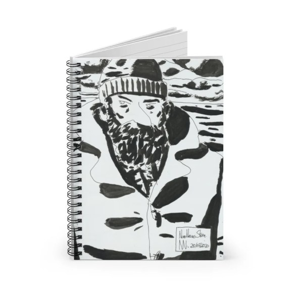 Ruled Line Spiral Notebook With Urban Art Cover 26  Retro image 0