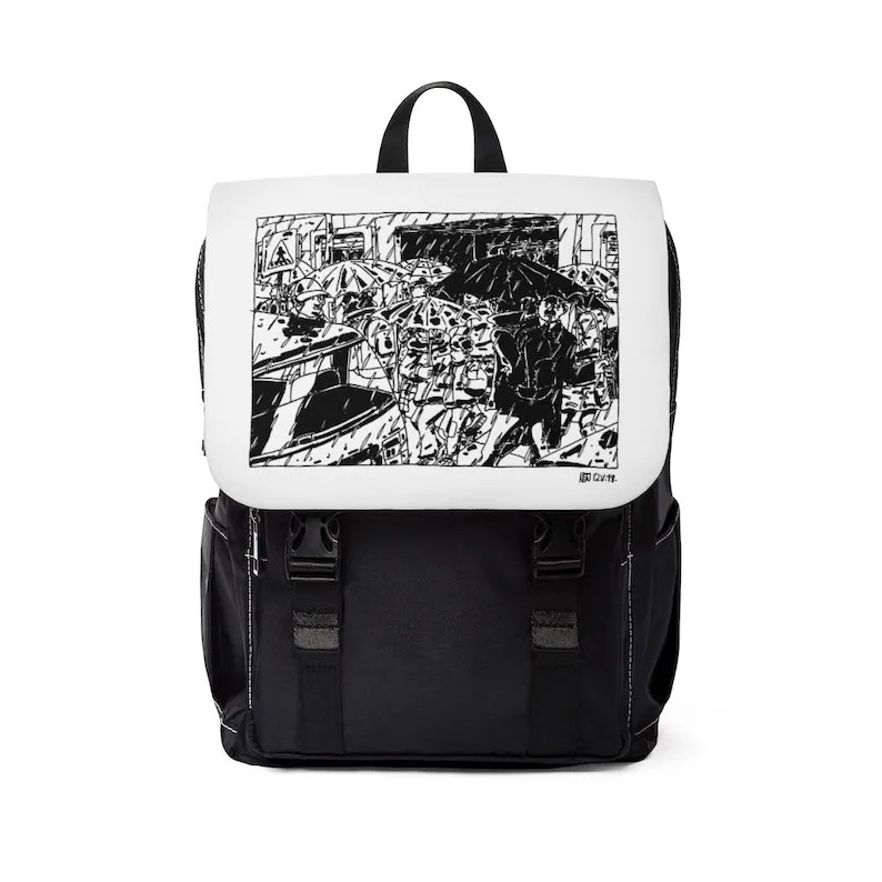 Urban Art Canvas Mini Backpack 7  Retro custom gift image 0