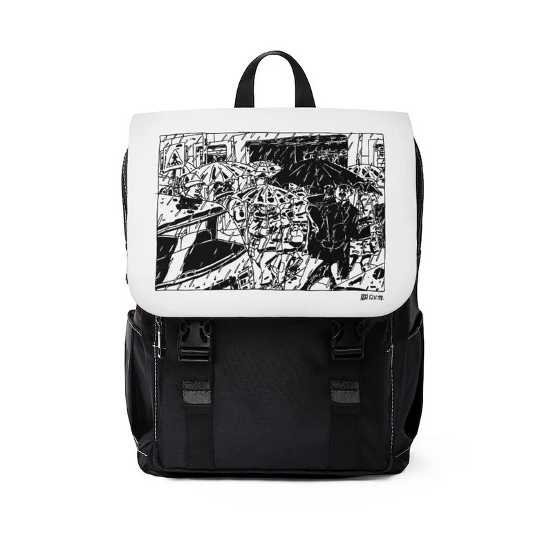 Urban Art Canvas Mini Backpack 7  Retro custom gift image 0