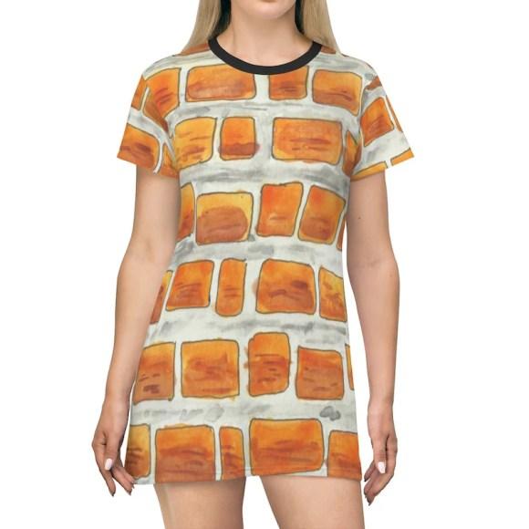 Cool Art T-Shirt Dress 6  Retro custom gift petite plus size image 0