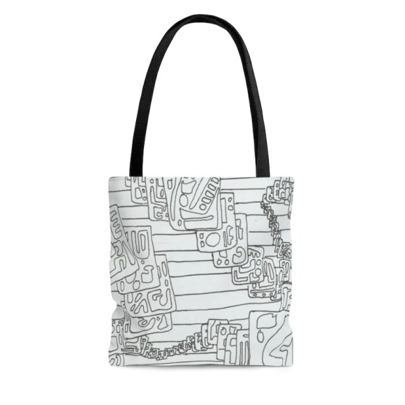 Cool Art Tote Bag 3 sizes 17  Retro custom gift aesthetic image 0