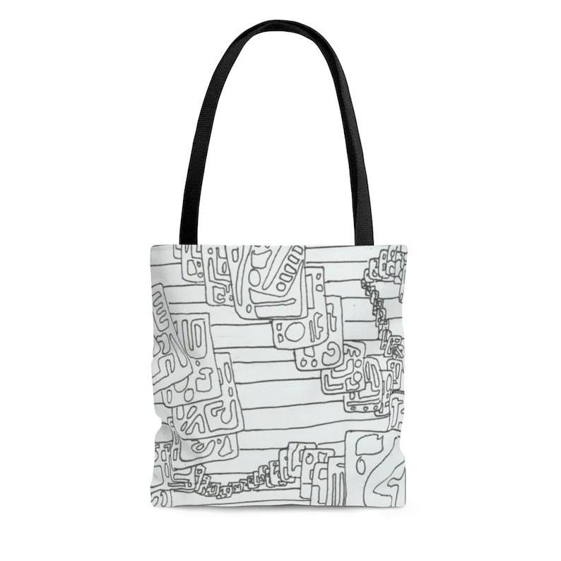 Urban Art Tote Bag 3 sizes 17  Retro custom gift aesthetic image 0