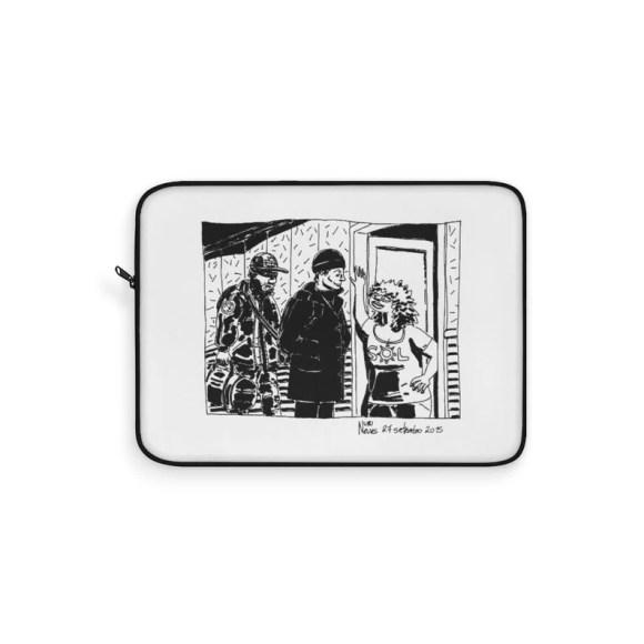 Cool Art Laptop Sleeve 18  Retro custom gift line art pop image 0