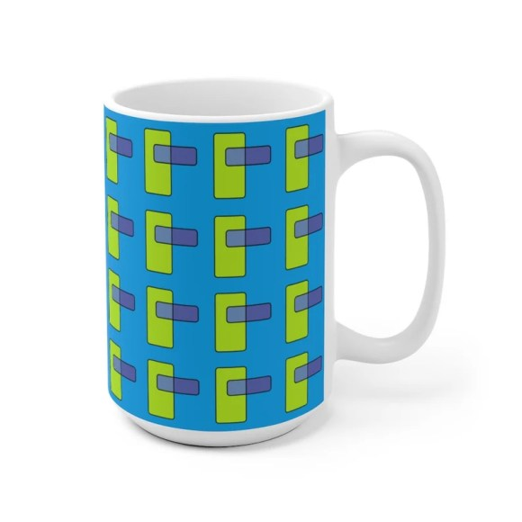 Cool Art Mug 2 sizes 66  Retro custom gift unique mugs with image 0