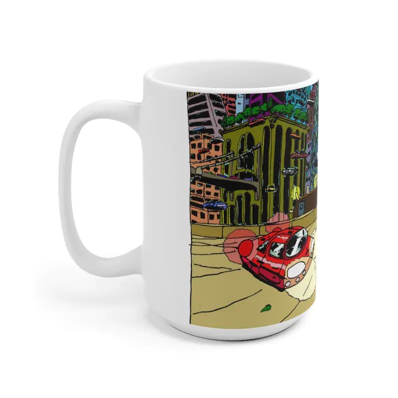 Cool Art Mug 2 sizes 74  Retro custom gift unique mugs with image 0