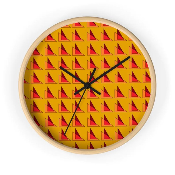 Cool Art Wall Clock 18  Retro custom gift designer image 0
