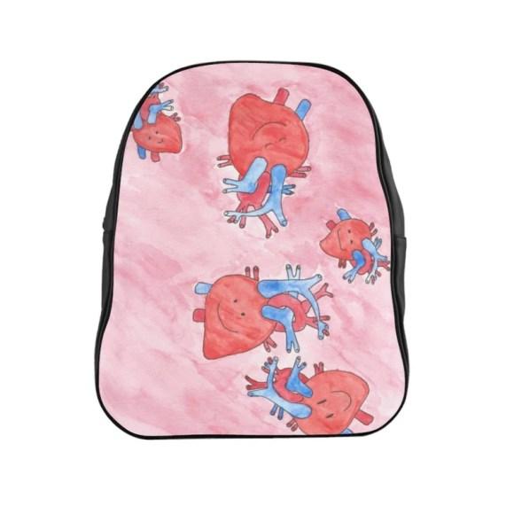 Urban Art PU Leather Backpack 3 sizes 5   Retro custom gift image 0