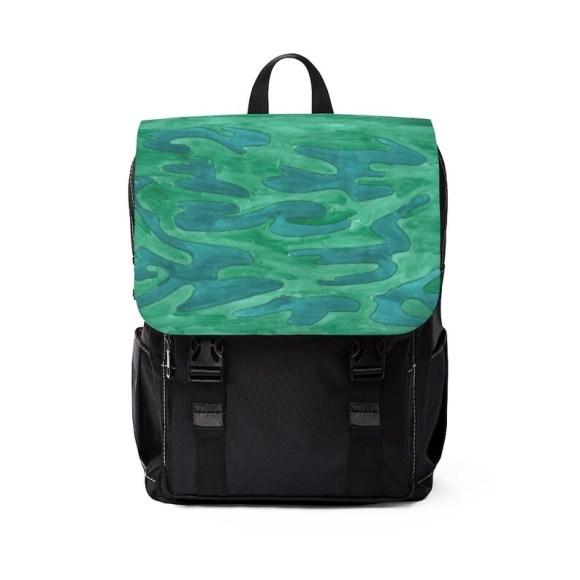 Urban Art Canvas Mini Backpack 14  Retro custom gift image 0
