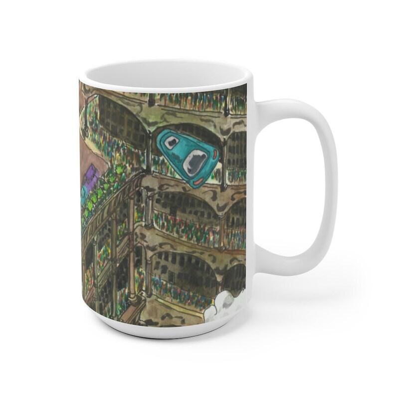 Urban Art Mug 2 sizes 51  Retro custom gift unique mugs image 0