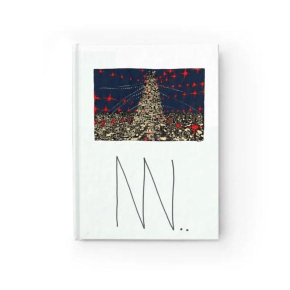 Blank Journal With Urban Art Cover 7  Retro custom gift image 0