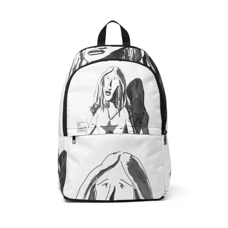 Urban Art Mid-sized Backpack 15  Retro custom gift image 0