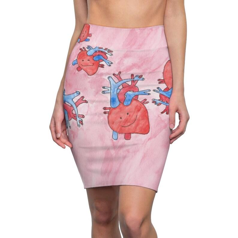 Cool Art Pencil Skirt 8  Retro custom gift  skirts dresses image 0