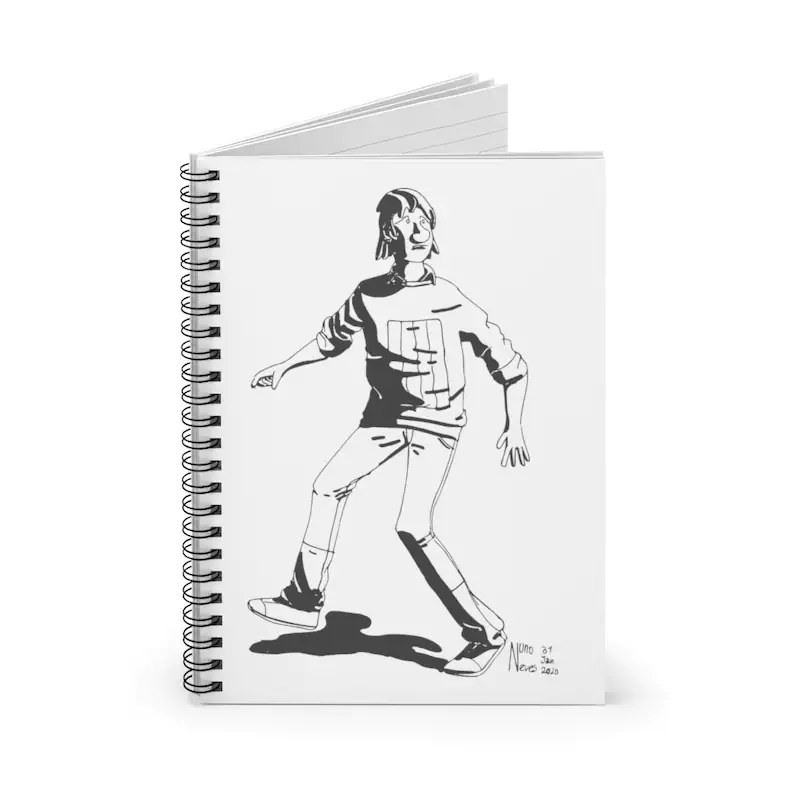 Ruled Line Spiral Notebook With Urban Art Cover 1  Retro image 0
