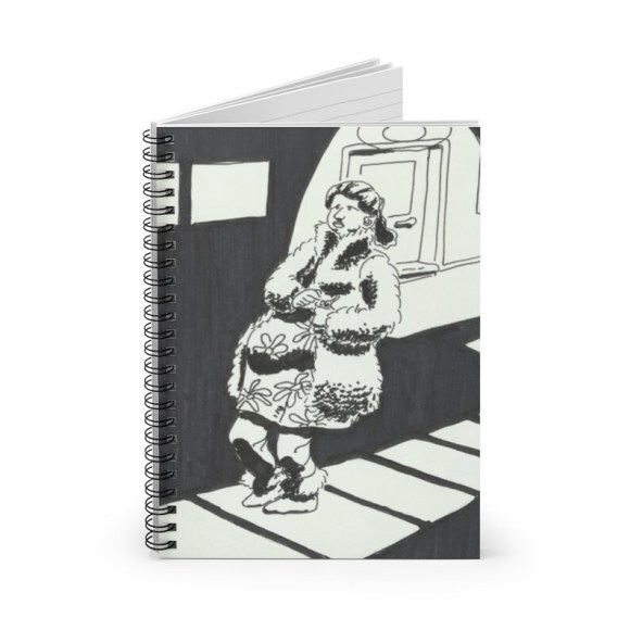 Ruled Line Spiral Notebook With Cool Art Cover 7  Retro image 0