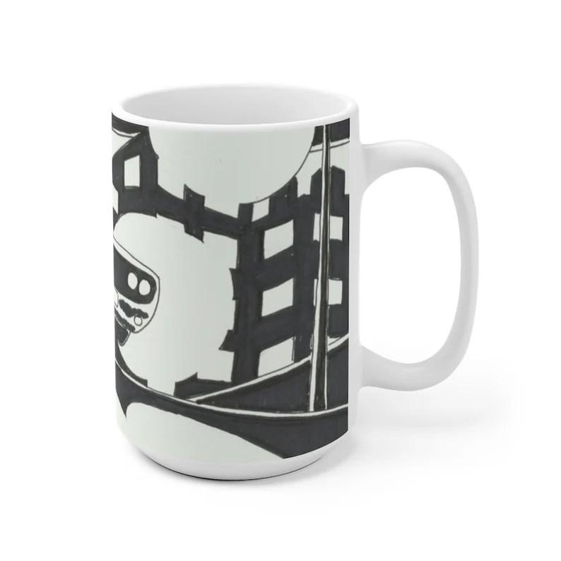 Urban Art Mug 2 sizes 29  Retro custom gift unique mugs image 0