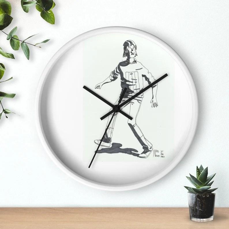 Cool Art Wall Clock 11  Retro custom gift designer image 0