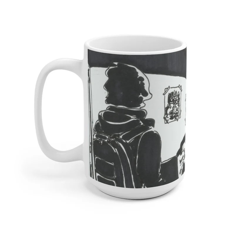Urban Art Mug 2 sizes USA14  Retro custom gift unique mugs image 0
