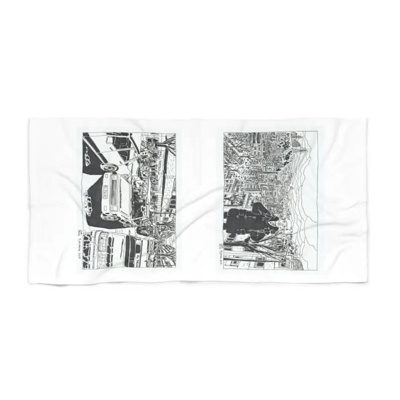 Cool Art Beach Towels 6  Retro custom gift designer image 0