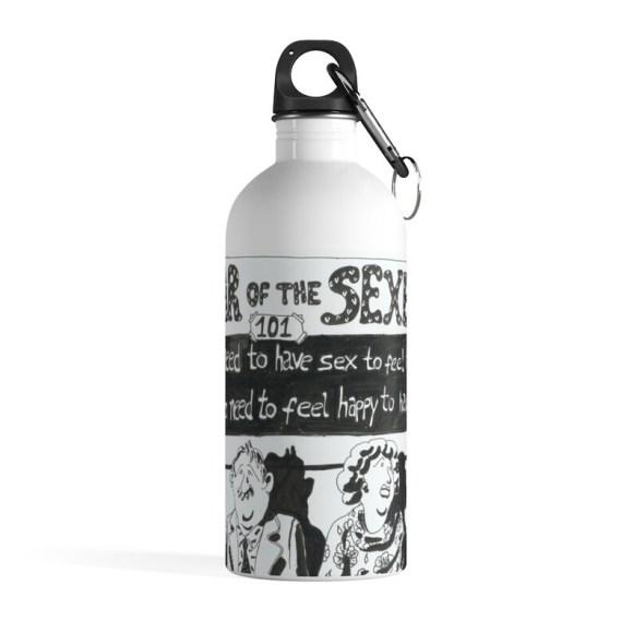 Cool Art Water Bottle 2  Retro custom gift pop art line art image 0