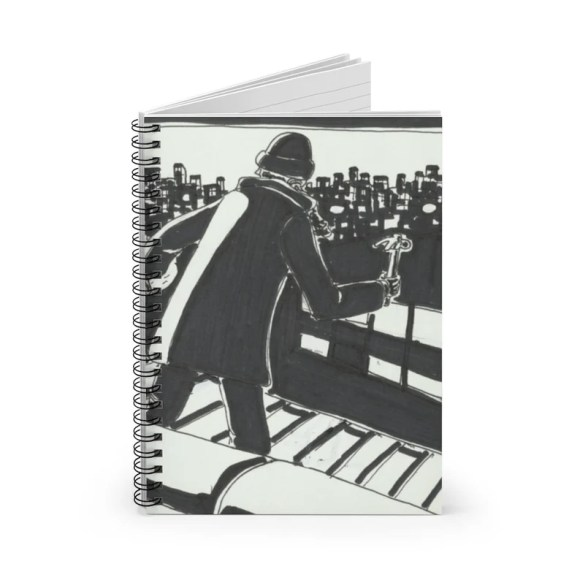 Ruled Line Spiral Notebook With Cool Art Cover 5  Retro image 0