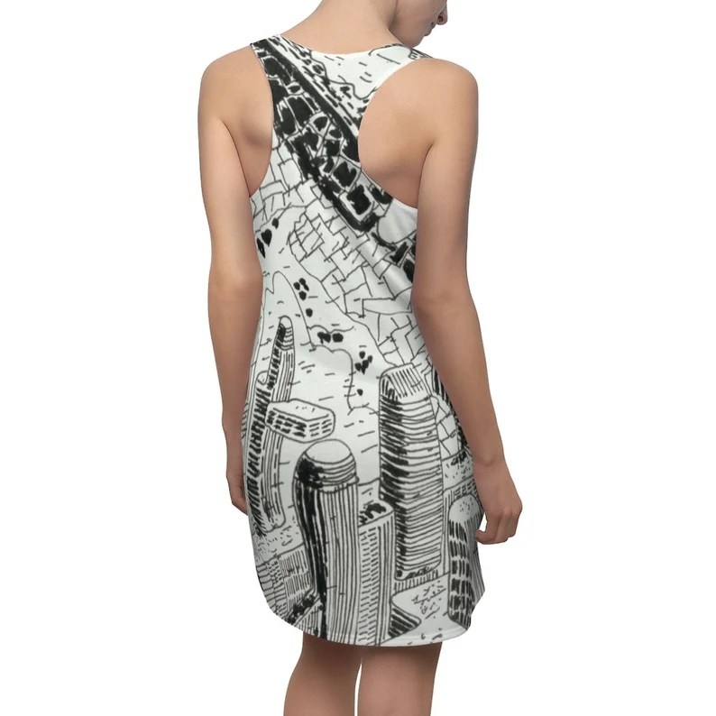 Cool Art Racerback Dress 4  Retro custom gift  dresses image 0