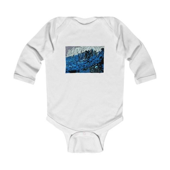 Urban Art Baby Onesie 10  Retro custom gift gender neutral image 0