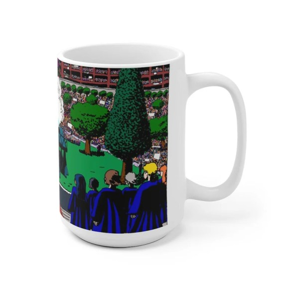 Cool Art Mug 2 sizes USA5  Retro custom gift unique mugs image 0